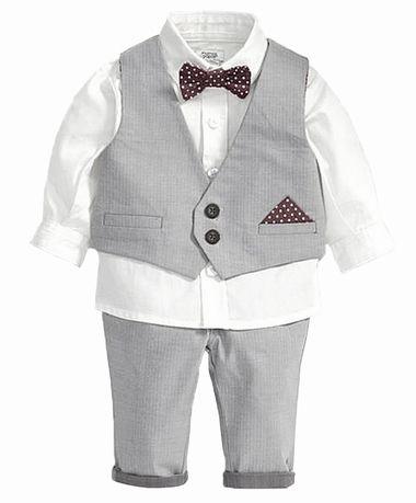 94ec153107c handsome 4-pieces little boy tuxedo outfit for wedding