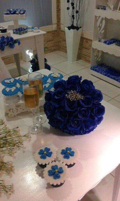 Buquê de Rosas Azuis