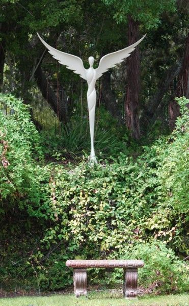 "Beautiful!  I would like to have one of these! ""Lavaggi - Garden Sculpture of Angel of reconciliation"""