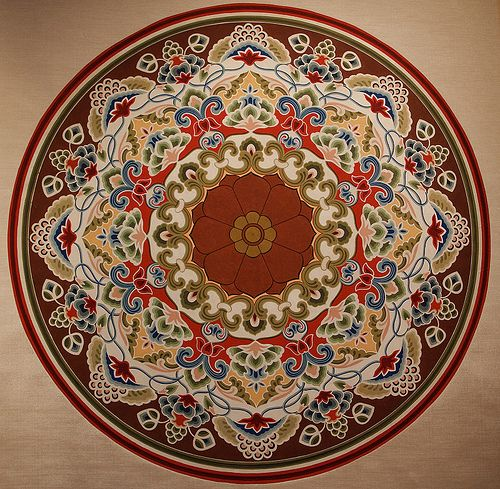 Buddhist Mandala, Dunhuang Caves, China* Arielle Gabriel writes about miracles and travel in The Goddess of Mercy & The Dept of Miracles also free China toys and paper dolls at The China Adventures of Arielle Gabriel *