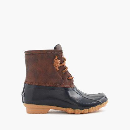 Fleece-lined, waterproof and made for navigating slushy walks to school. Do your worst, wintery mix (whatever that is). <ul><li>Man-made upper.</li><li>Rubber sole.</li><li>Import.</li></ul>