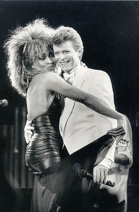 Tina Turner & David Bowie...That look on his face!  I wonder what he was thinking!  ; )