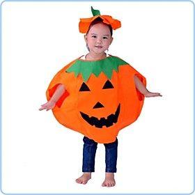 vestito di zucca con il cappello non tessuto per l 'i bambini costume di Halloween
