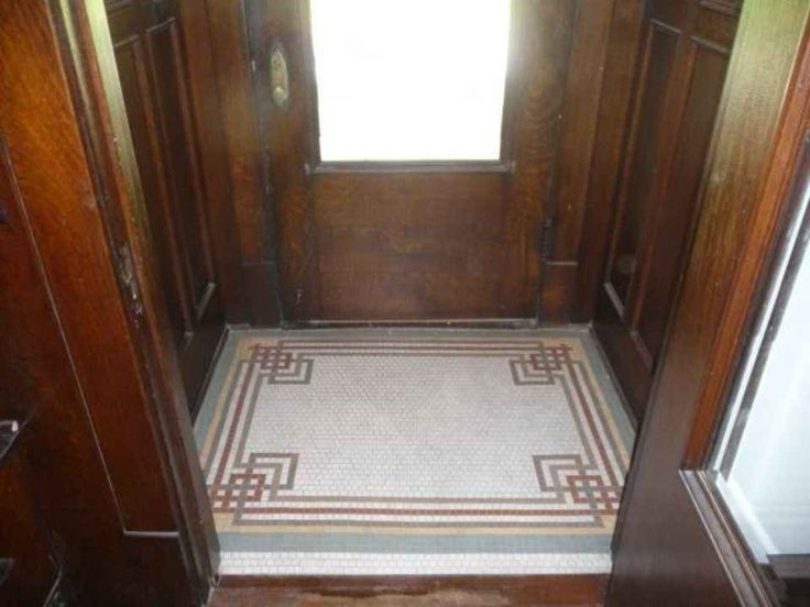 Mosaic floor in Historic 1910 home in Rock Island, IL.