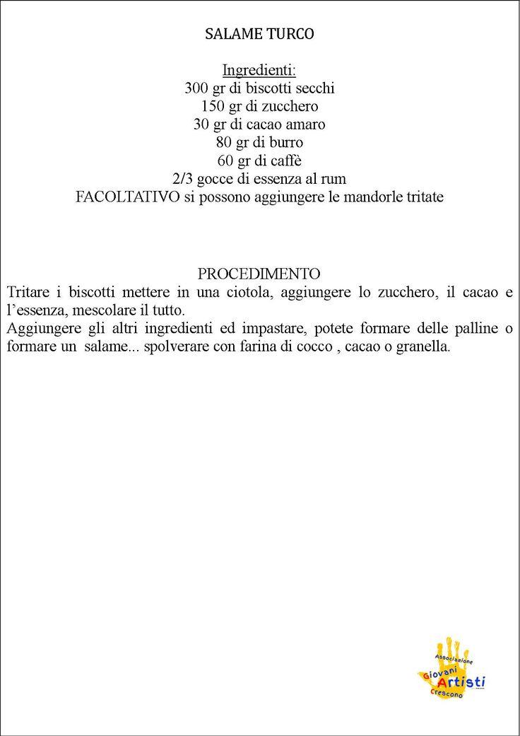 Ricetta Salame Turco
