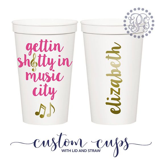 Bachelorette Party Favors Bachelorette Party Cups Nashville