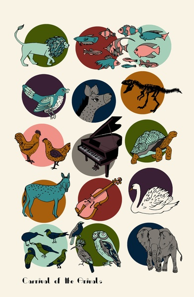 Carnival of the Animals - Saint-Saens Art Print by Prelude Posters