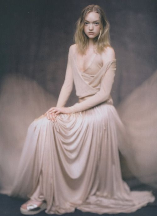 'A Poetic of Fluids.' Gemma Ward by Paolo Roversi for Hermes S/S 05 catalogue.