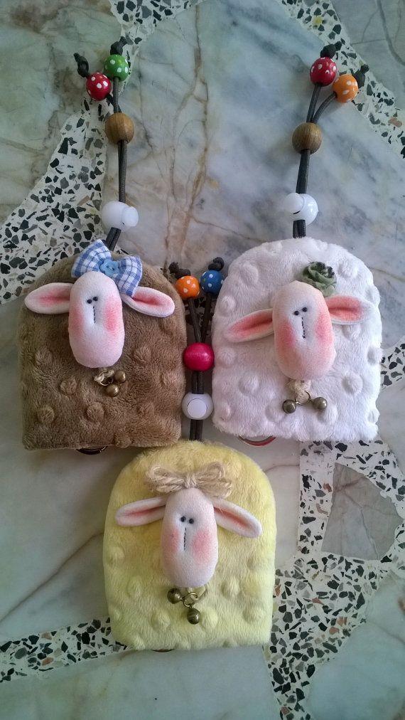 SHEEP key holder key cover by Munkongshop on Etsy