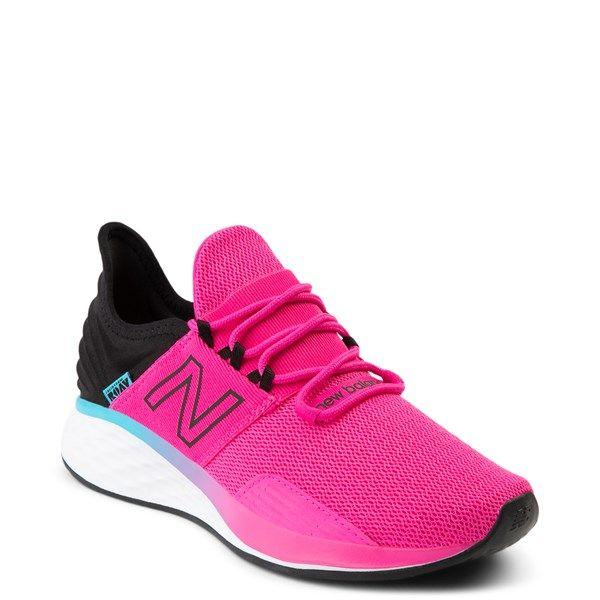 Womens New Balance Fresh Foam Roav Athletic Shoe Pink Black In 2020 Fashion Athletic Shoes Womens Athletic Shoes Athletic Shoes
