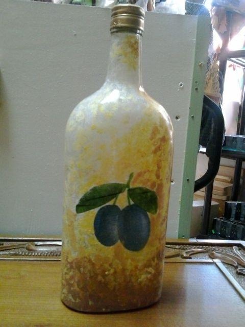 Flaša za rakiju(dekupaž)