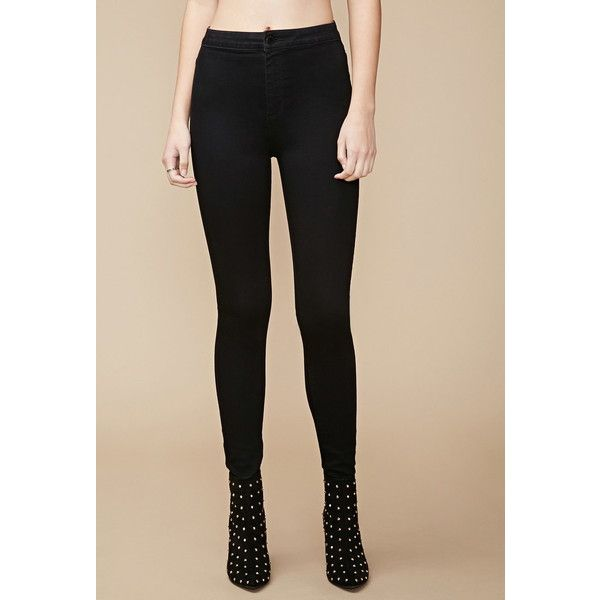 Forever 21 Women's  High-Waisted Super Skinny Jeans ($30) ❤ liked on Polyvore featuring jeans, super high rise skinny jeans, skinny fit jeans, high waisted jeans, forever 21 and super skinny jeans