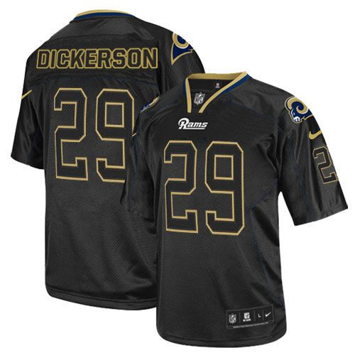 Nike Elite Eric Dickerson Lights Out Black Men's Jersey - Los Angeles Rams  #29 NFL