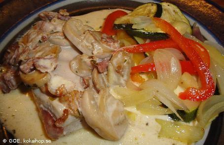Recept - LCHF-Krämig kyckling i ugn