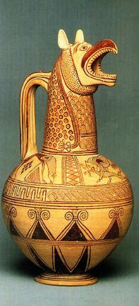 Cycladic Jug, Found on Aegina, an island in the Mediterranean    700-650 BCE