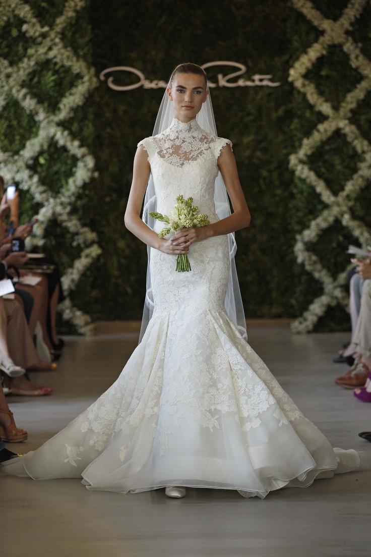 Ok wedding gallery the beauty dress of cheongsam 2013 - Oscar De La Renta Bridal 2013 Photo By Dan Lecca