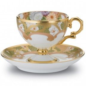 "Chrysanthemum Cup, 4 1/4 oz. & Saucer, 5""                                                                                                                                                                                 More"