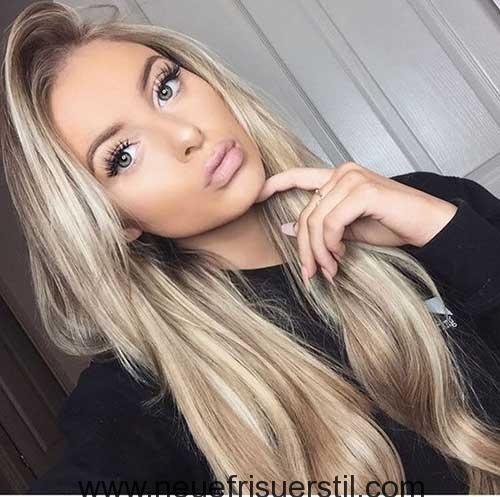 15.Blonde Lange Frisur