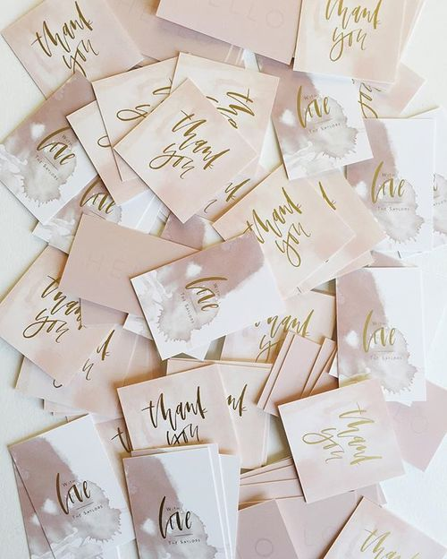 i haven't had business cards or thank you notes printed in a looong time. i really need to step up my packaging game for all of my awesome clients... love how these little thank you tags turned out, now I need to order more for packing orders! they're gold foil!  i shared them in motion over on snapchat (afabulousfete) too so you can see all the gold goodness in real life;) (made them on @moo)