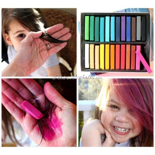 hair chalking capelli colorati coi pastelli morbidi crazy color hair DIY PASTEL hair chalking