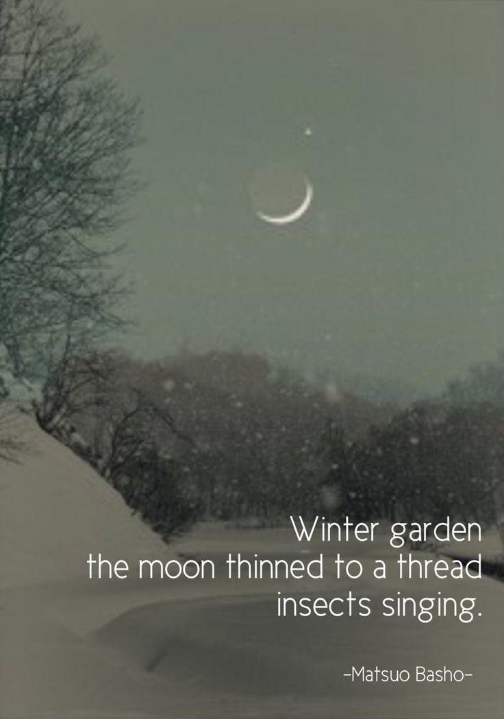 "terracemuse: ""Winter garden…..(Matsuo Basho) original image from amazingplaces """