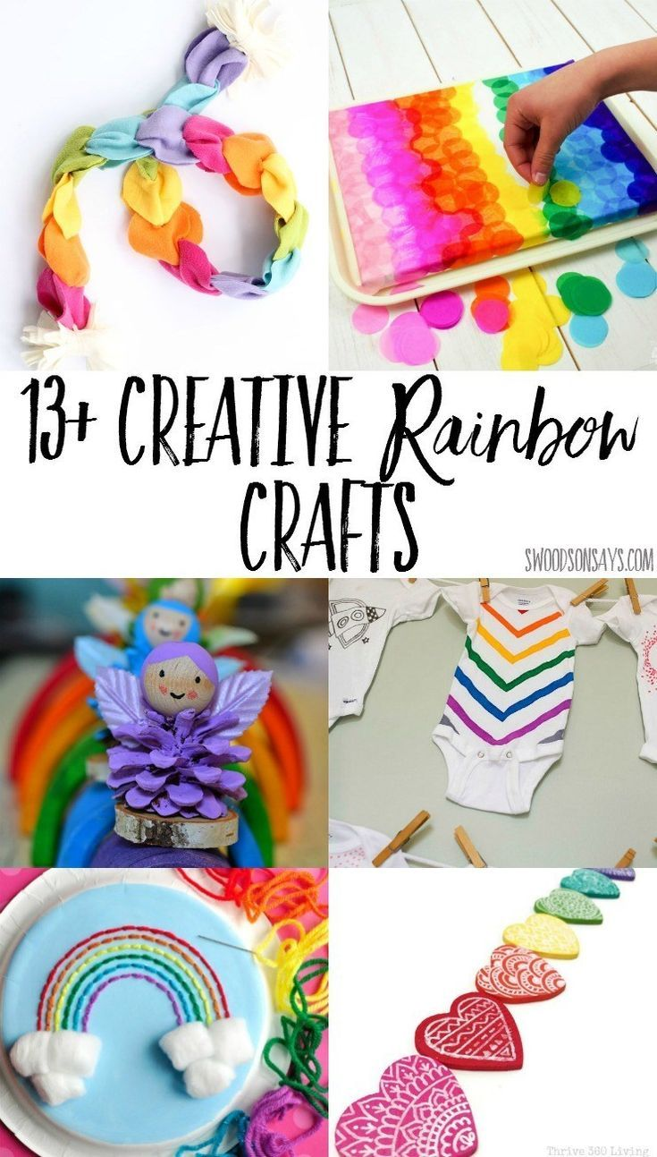 13 Creative Rainbow Crafts To Make Diy Arts Crafts