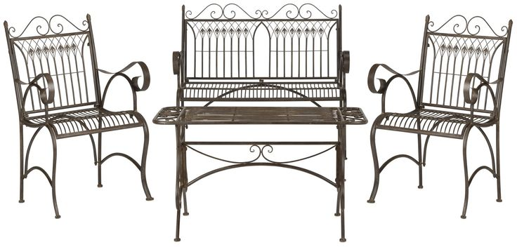 Leah 4 Piece Bench Seating Group