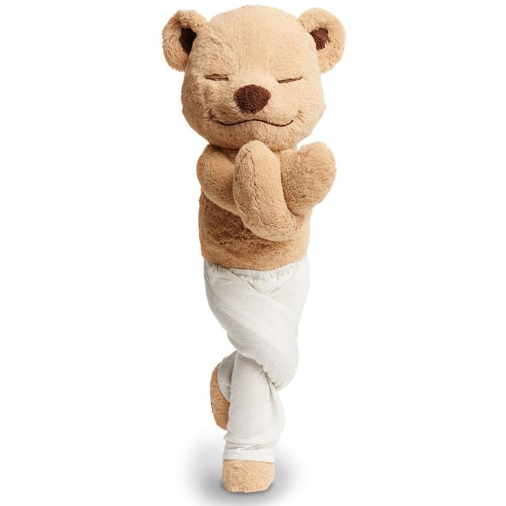This totally poseable teddy bear teaches kids meditation and yoga (an idea so cool, creator Thom Jordan—inspired after a trip to India—raised 200% of his crowdf