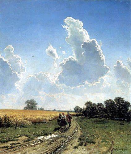 Iwan Schischkin - Midi. Dans l'environnement de Moscou, Bratzewo -1866