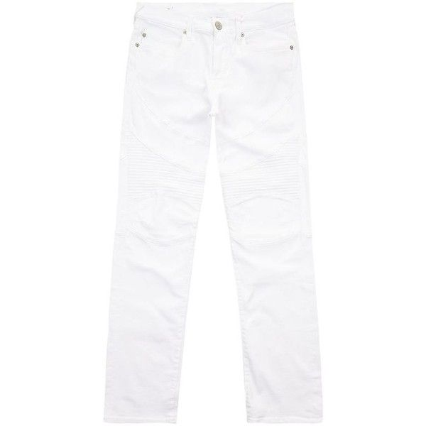 True Religion Slim Biker Jeans ($320) ❤ liked on Polyvore featuring men's fashion, men's clothing, men's jeans, mens skinny fit jeans, mens slim cut jeans, mens white skinny jeans, mens skinny jeans and mens relaxed boot cut jeans