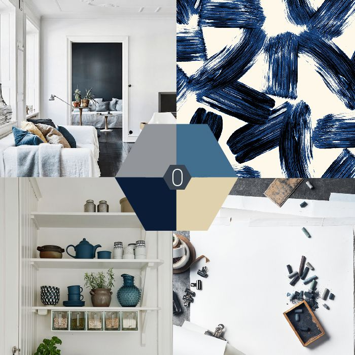 Kleur-palet: blauw grijze en beige tinten. En hoewel blauw niet altijd mijn directe voorkeur heeft, vind ik blauwgrijs tinten erg mooi. #color #blue #blauw #kleurpalet | OCHER