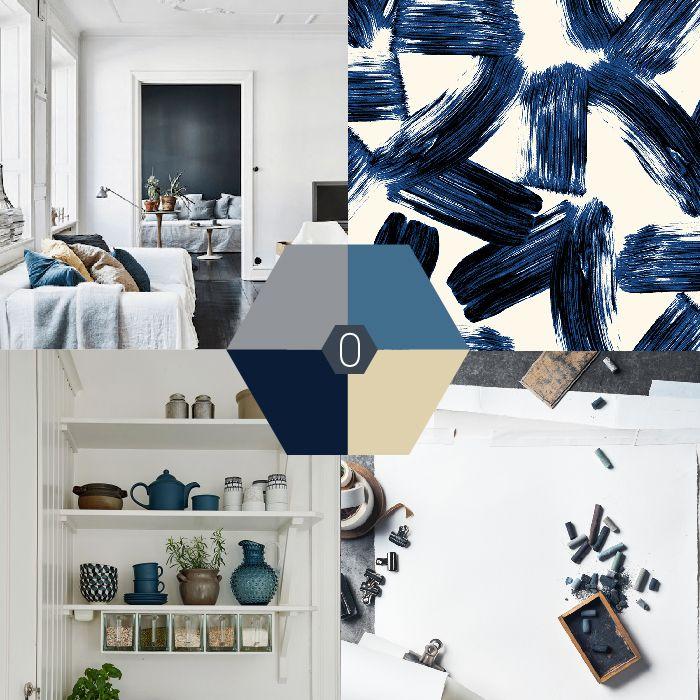 Kleur-palet: blauw grijze en beige tinten. En hoewel blauw niet altijd mijn directe voorkeur heeft, vind ik blauwgrijs tinten erg mooi. #color #blue #blauw #kleurpalet   OCHER