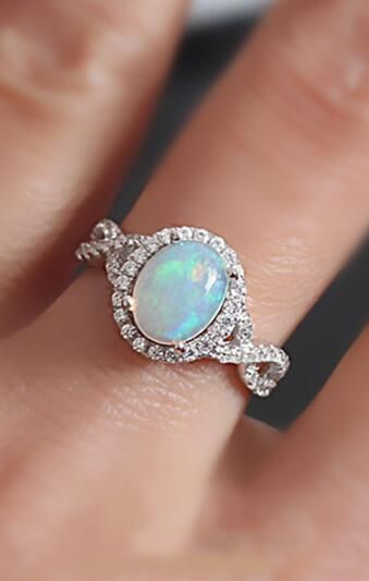 2016 new sparkle and classic opal ring…