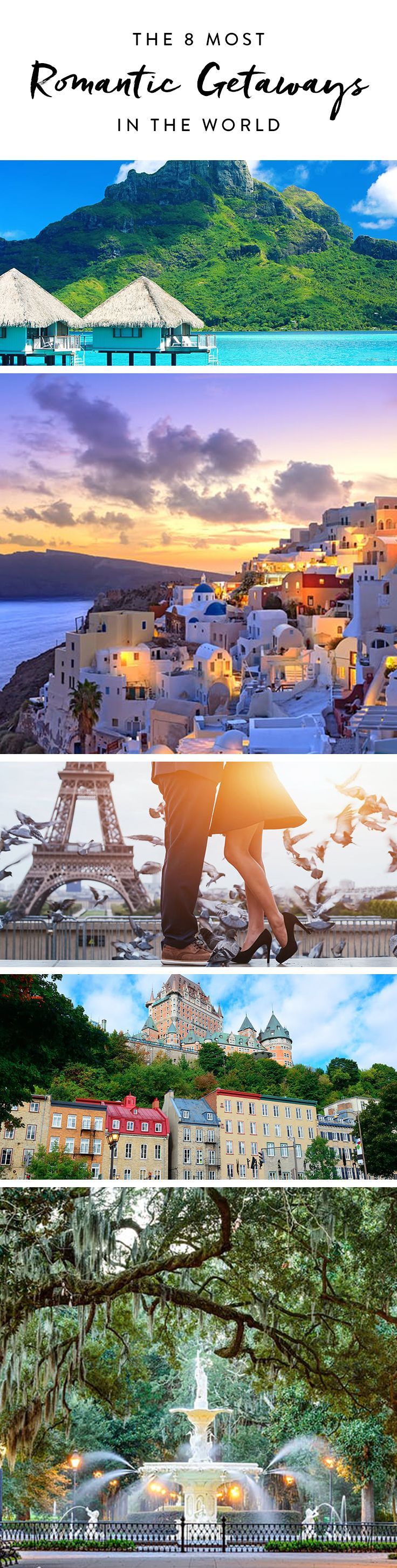 Whether you're planning a honeymoon, a Valentine's Day trip or just want to get away, a couple's vacation should be special. So don't settle on just anywhere. Here are eight of the world's romantic spots.