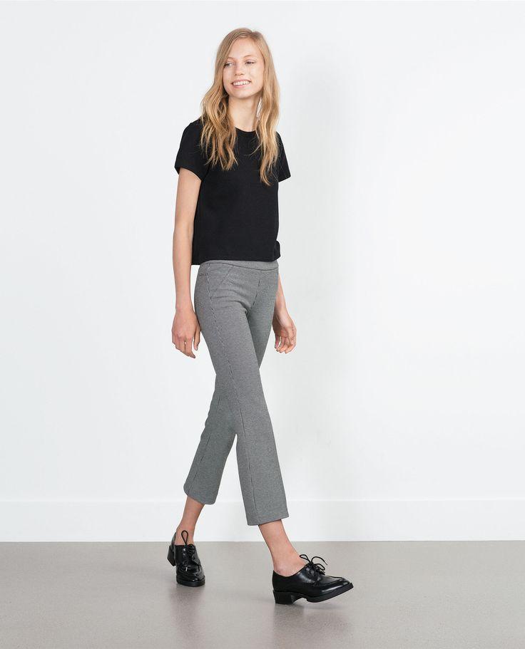CROPPED LEGGINS FLARE - Alles anzeigen - Hosen - DAMEN   Zara Deutschland