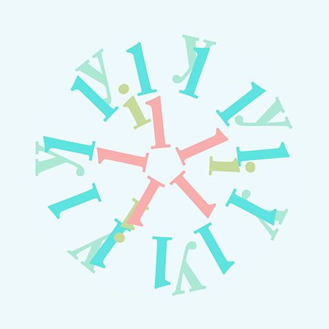 """lily"" from kotobana / flower / typography / web design"