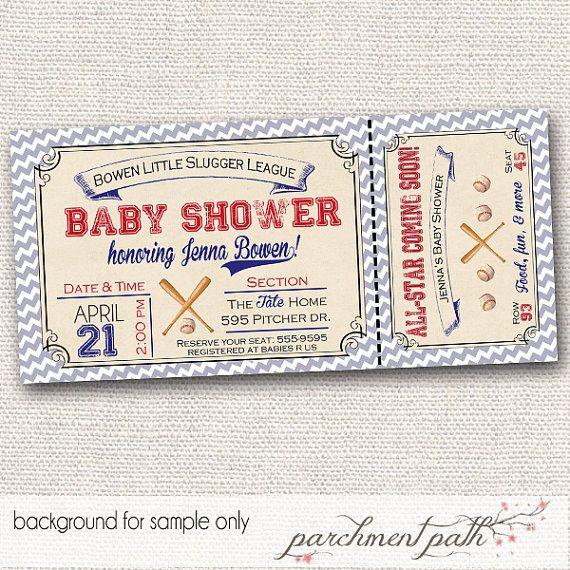 Vintage+Baseball+Baby+Shower+Invitation++by+parchmentpath+on+Etsy,+$12.00