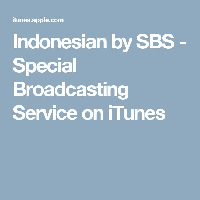 Indonesian by SBS - Special Broadcasting Service on iTunes