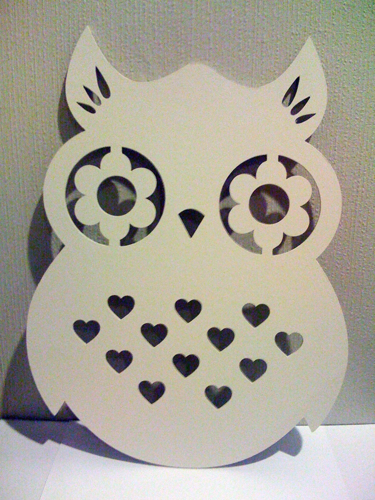 laser cut owl