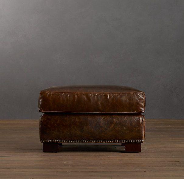 Easton Leather Ottoman