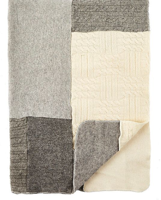Agua Patchwork Cashmere Baby Blanket