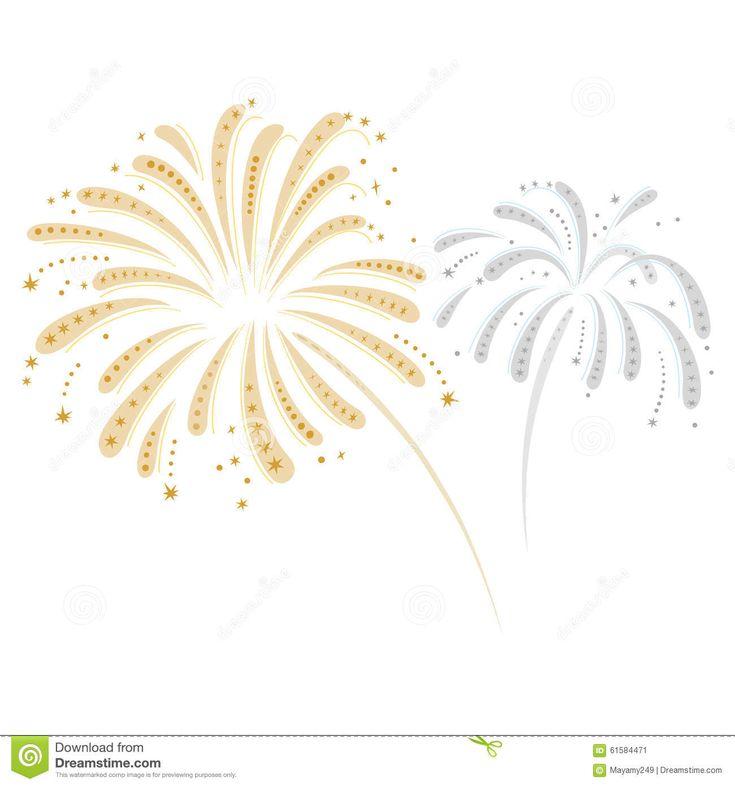 Fireworks clipart golden #2