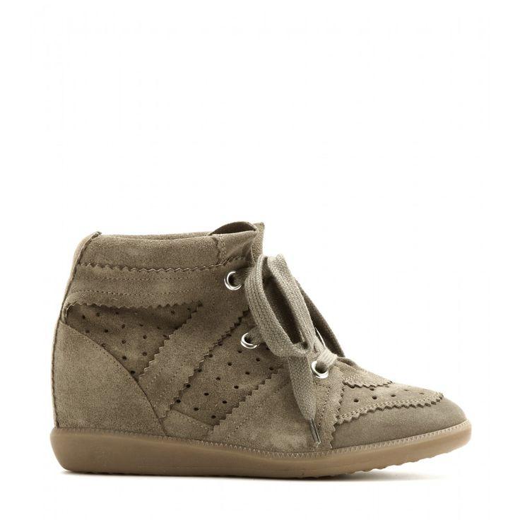 Sneakers Compensées En Daim Bobby ∫ Isabel Marant * mytheresa