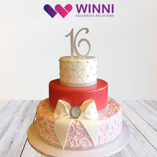 It's not an ordinary cake, it's a 3-tier cake which is delicious and perfect for #birthdaycelebration #Anniversarycelebration #wedding or #grandparty   Book your #cake now from #winni