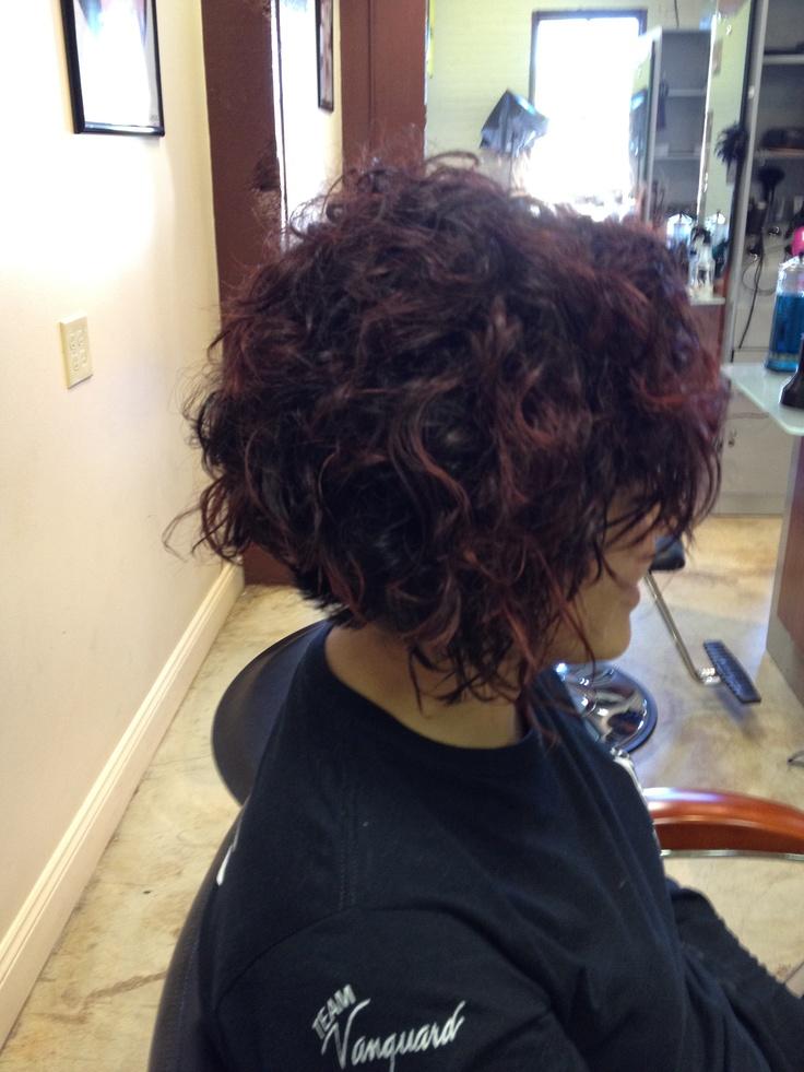 Curly bob...looks just like my hair!