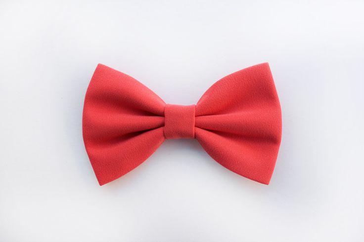 Papillon rosa corallo per uomo, elegante, per cerimonia matrimonio nozze,sposo,testimoni,accessori per matrimonio,colore pastello corallo di ScoccaPapillon su Etsy