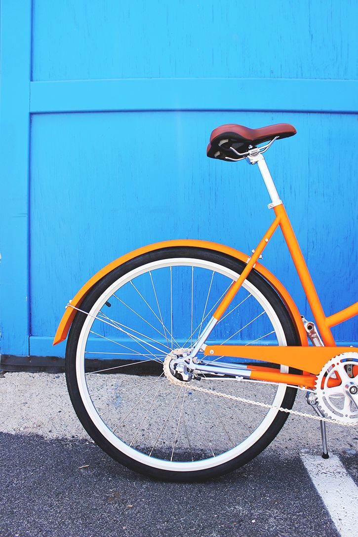 The Orange Mayfair bicycle from Brilliant.