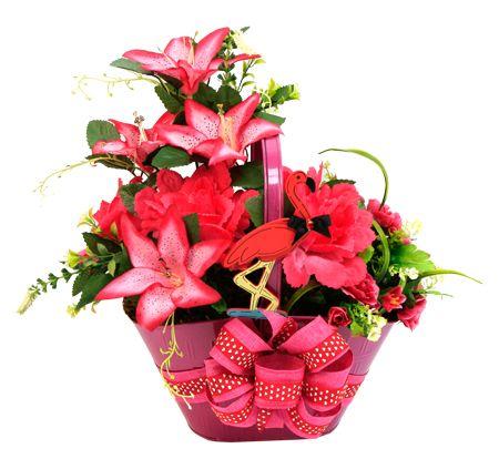Arreglo de flores color rosa. Centro de mesa para Despedida de Soltera
