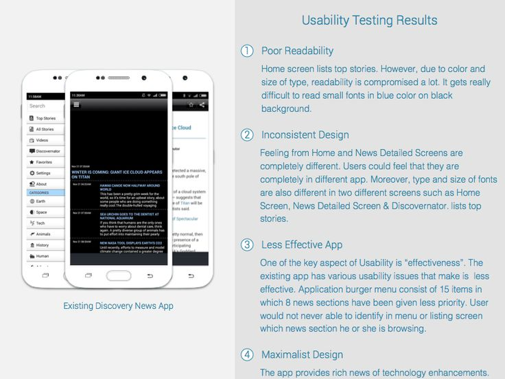 Usability Testing Results of Discovery News App by Chandresh Gandhi for User 360