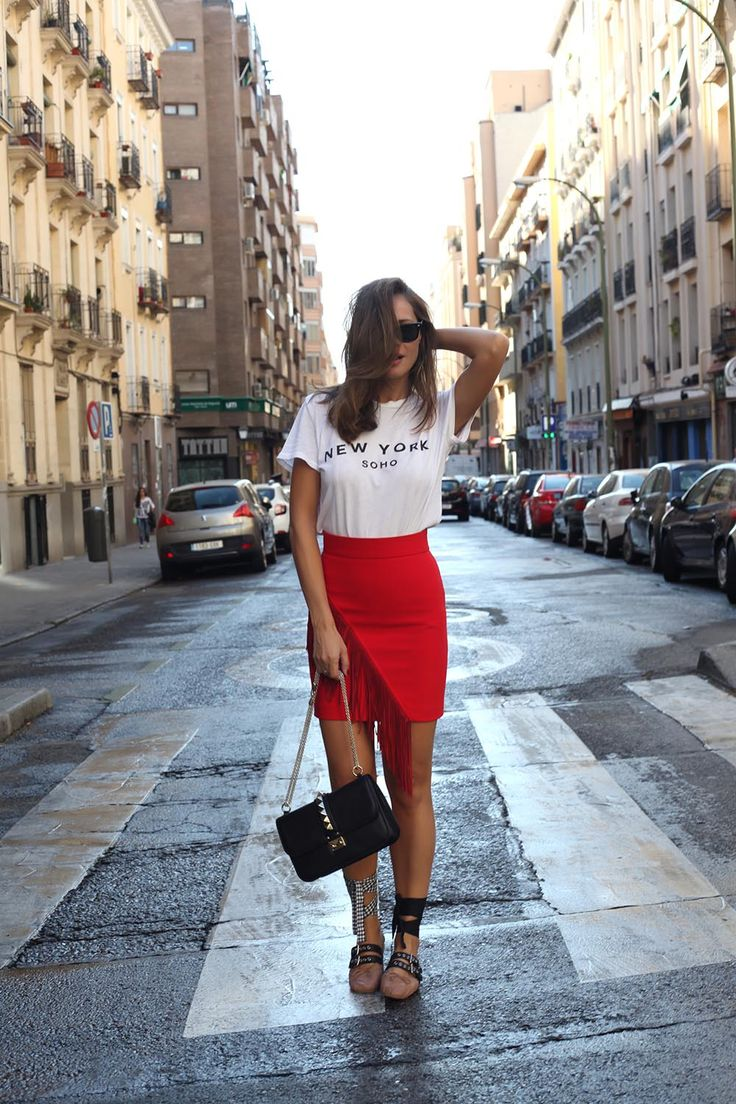 skirts with ballet flats for a comfortable and stylish look
